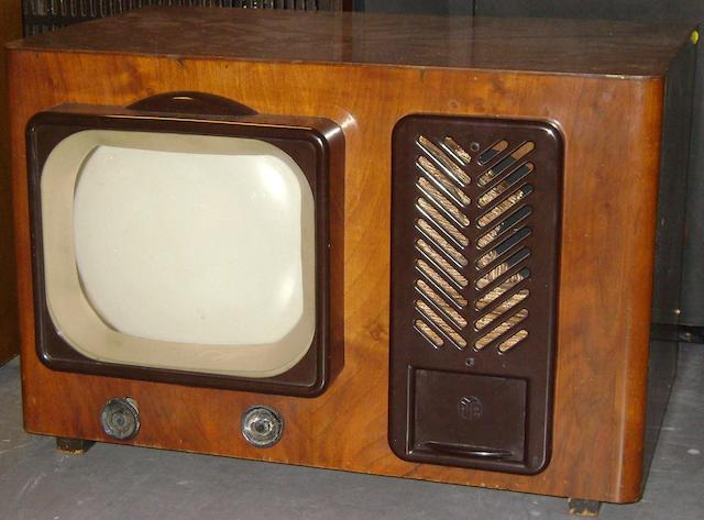 A PYE Type B 16T table model television, 1946,