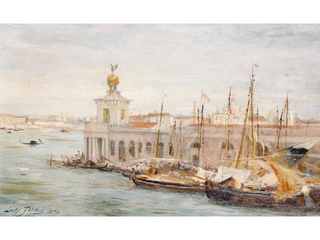 Samuel Luke (Sir) Fildes (British, 1843-1927) A view of Venice