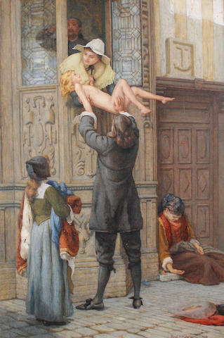 Frank William Warwick Topham (British, 1838-1924) Rescued from the plague