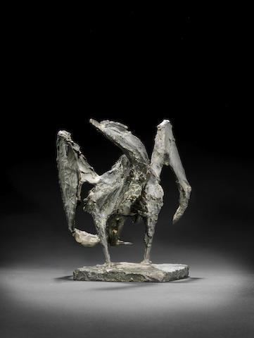Dame Elisabeth Frink R.A. (British, 1930-1993) Bird 24.1 cm. (9 1/2 in.) high