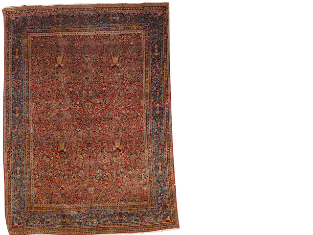A Tehran carpet Central Persia, 11 ft 9 in x 8 ft 8 in (358 x 264 cm)