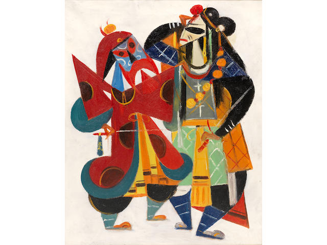 Lin Fengmian (1900-1991) Chinese Opera Series: Stealing the Royal Horse
