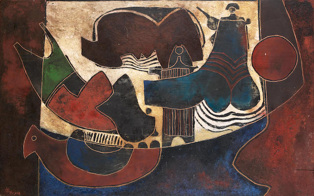 Bonhams : Lucky Madlo Sibiya (South African, 1942-1999) Mythical