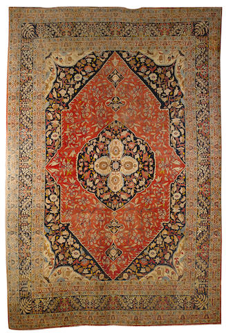 A Tabriz carpet North West Persia, 16 ft 11 in x 11 ft 5 in (515 x 346 cm) some minor wear