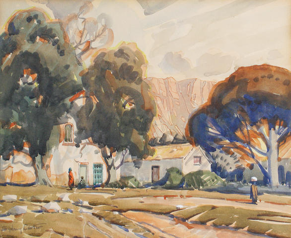 Sydney Carter (South African, 1874-1945) Cape landscape