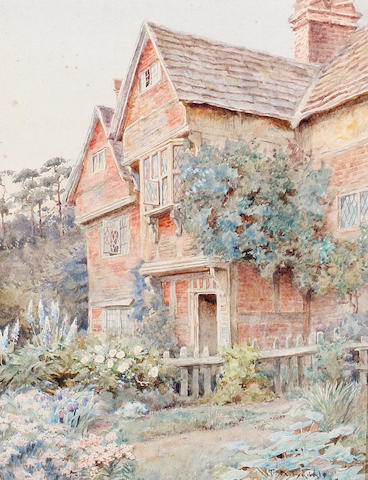 Thomas Nicholson Tyndale (British, 1860-1930) Surrey farmhouse; Bray, Berks; At West Meon, Hants each 24 x 18cm (9 7/16 x 7 1/16in), (3).