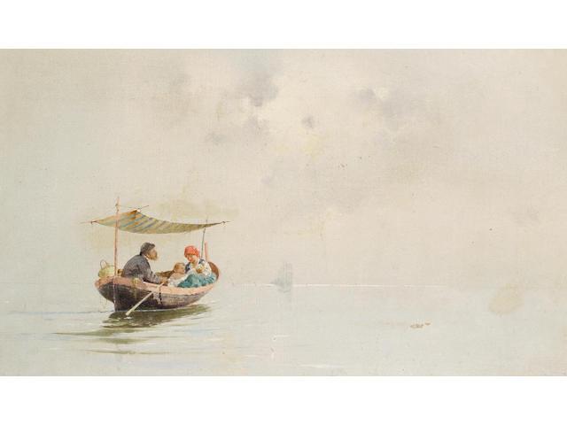 Giuseppe Cosenza (Italian, 1847-1922) In barca