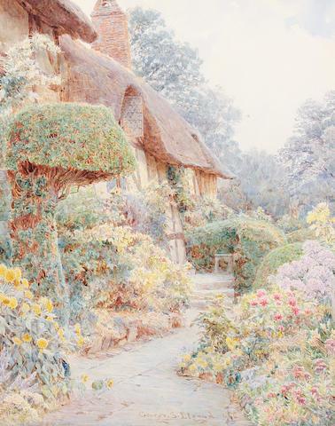 George Samuel Elgood (British, 1851-1943) Anne Hathaway's cottage