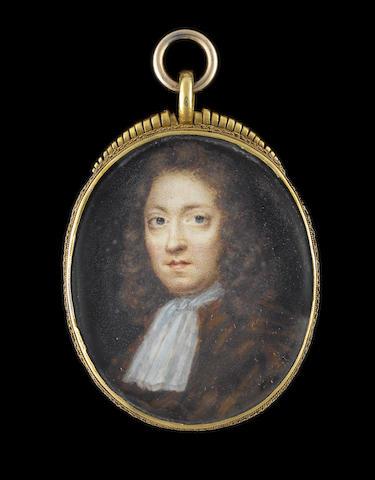 Charles Beale (British, 1660-circa 1714) Charles Taylor (b.1656), aged 32, wearing brown cloak and white cravat, his natural hair worn long