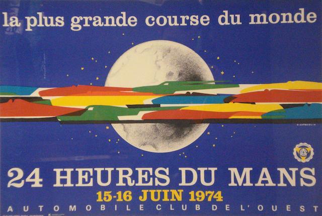 24 Heures du Mans, an original poster, 1974,