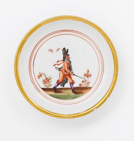 A very rare Meissen saucer circa 1723