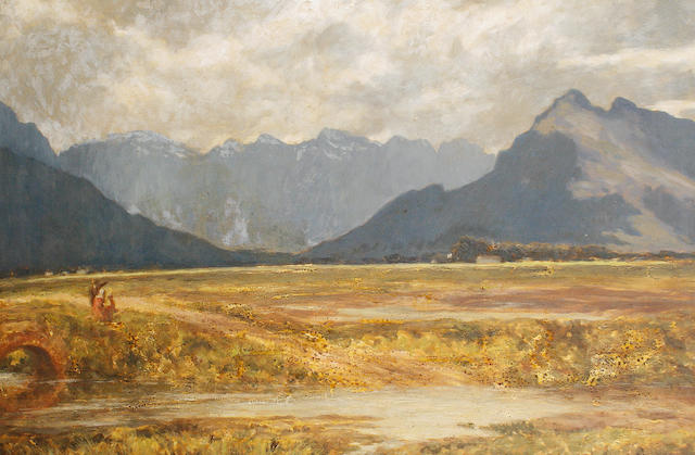 Edward Roworth (South African, 1880-1964) Mountain landscape