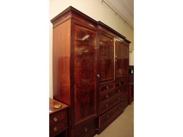A late Victorian mahogany bedroom suite