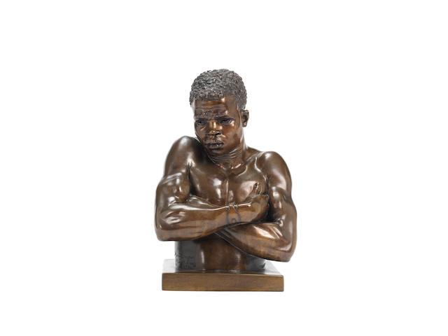 (n/a) Anton van Wouw (South African, 1862-1945) Shangaan 31 cm. (12 3/16 in.) high