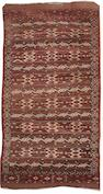 A Yomut carpet West Turkestan, 11 ft 1 in x 5 ft 9 in (336 x 175 cm)