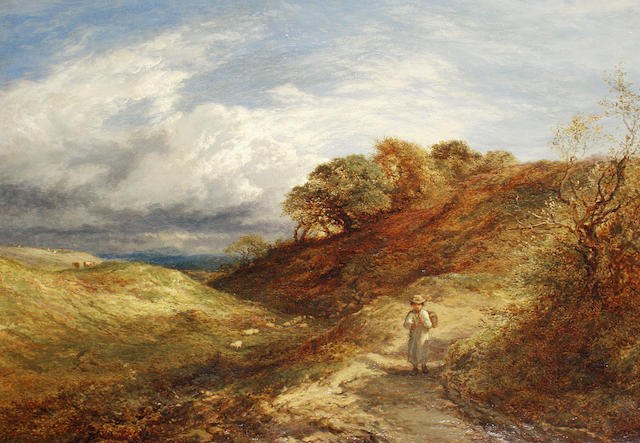 Circle of James Thomas Linnell (British, 1820-1905) Returning home