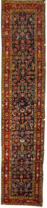 A Karabagh runner South Caucasus, 16 ft 8 in x 3 ft 7 in (506 x 107 cm)