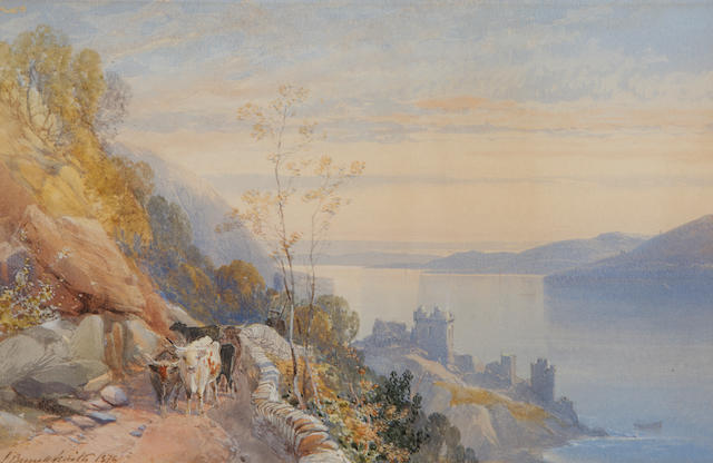 James Burrell Smith (British, 1822-1897) Castle Urquhart, Loch Ness