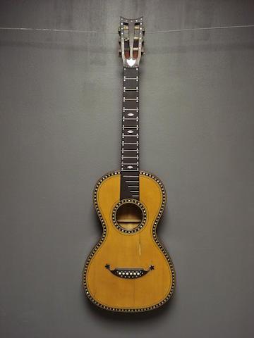 A Mirecourt Guitar, circa 1860 (2)