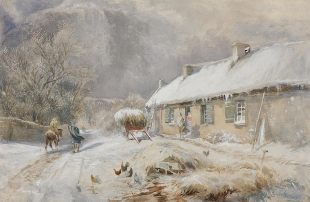 Samuel Bough, RSA (British, 1822-1878) Burns' Cottage, Alloway