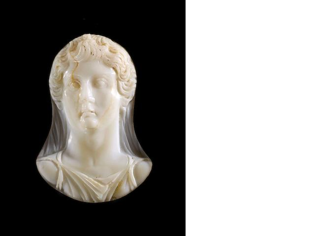 A large Roman sardonyx cameo of the Empress Livia