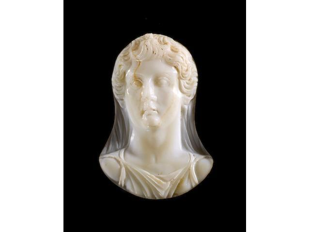 A large Roman onyx cameo of the Empress Livia