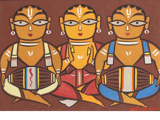 Jamini Roy (India, 1887-1972) Drummers,