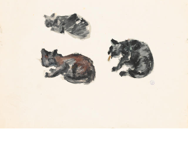 Natalia Sergeevna Goncharova (Russian, 1881-1962) Cats