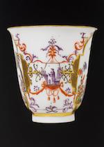 A Meissen beaker and saucer circa 1725-30