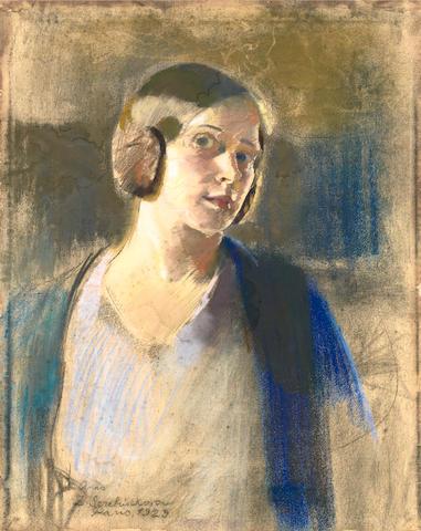 Zinaida Evgenievna Serebriakova (Russian, 1884-1967) 'Anna'