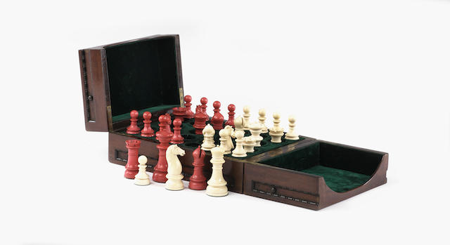 "A Fine ""Northern Upright"" ivory chess set, British Isles, circa 1860,"