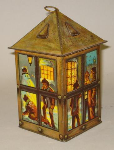 Maison Lyons Lantern toffee tin, 1920's