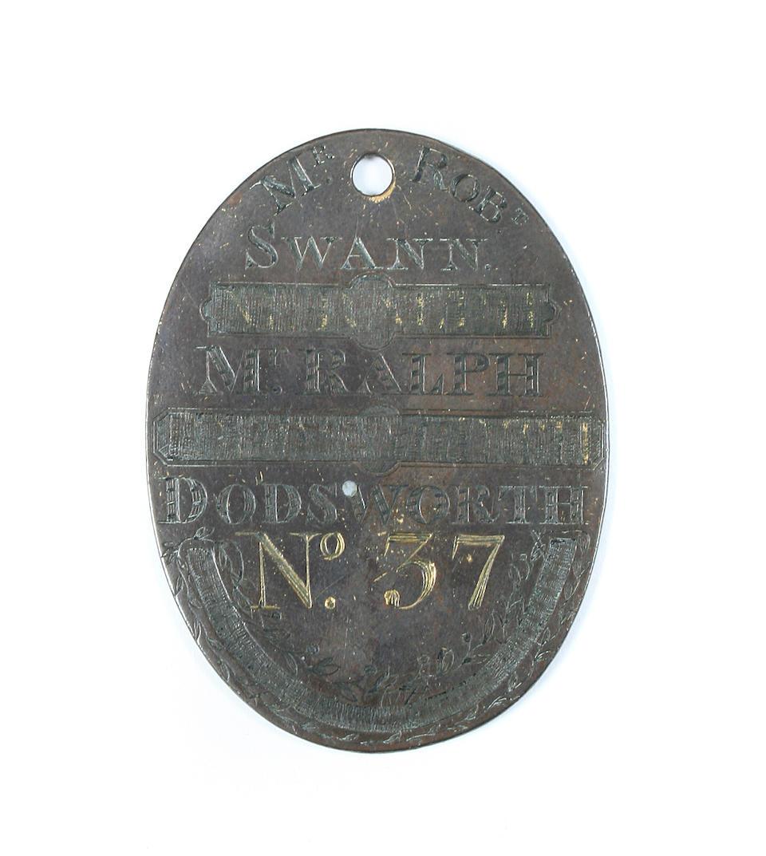 1768 York and 1775 Richmond horse racing badges