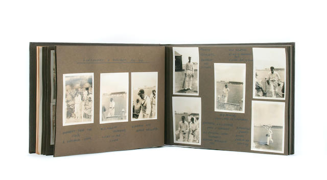 A 1940s photograph album of cricket photographs