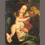 After Sir Anthony van Dyck, 17th Century The Madonna and Child with Saint Anne