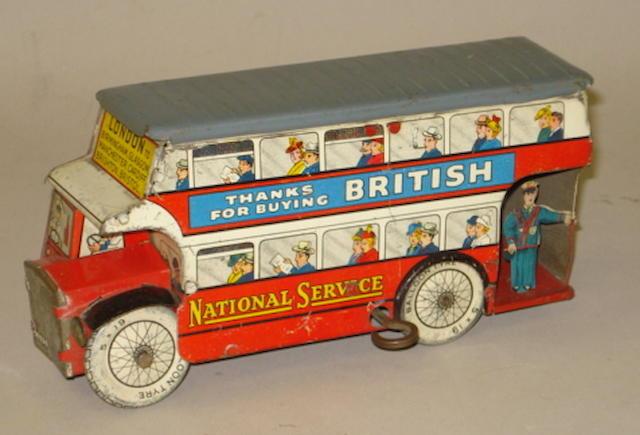 Wells c/w Buy British double decker bus