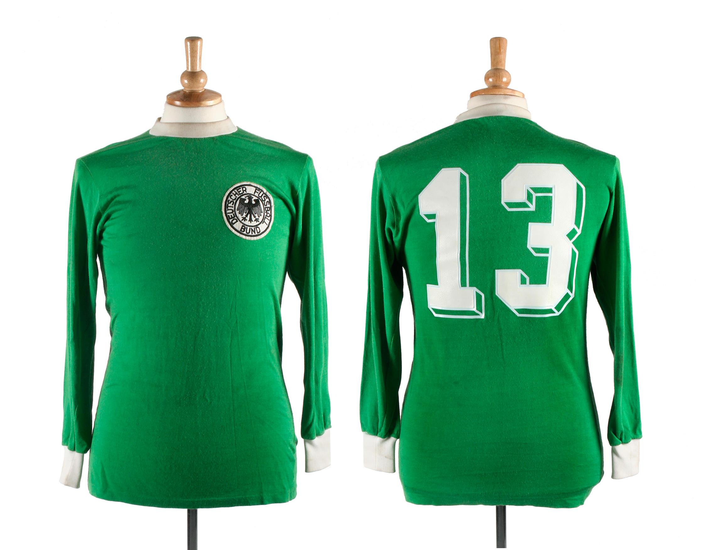 buy popular 075ec 23a3a 1974 World Cup Gerd Muller match worn West Germany shirt ...
