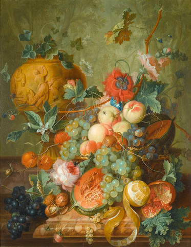 Johannes Christian Roedig, Pair of Still Lifes, both signed and dated 1779, oil on panel