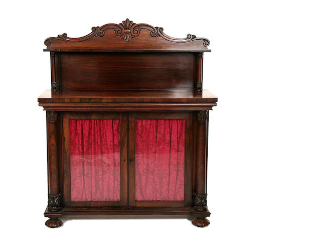 A early Victorian rosewood chiffonier