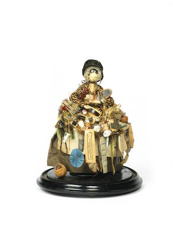 Early peddler Grodner Tal doll, circa 1830