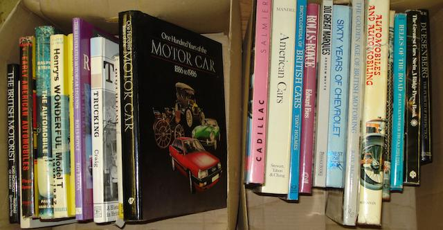 Twenty-five motoring books,