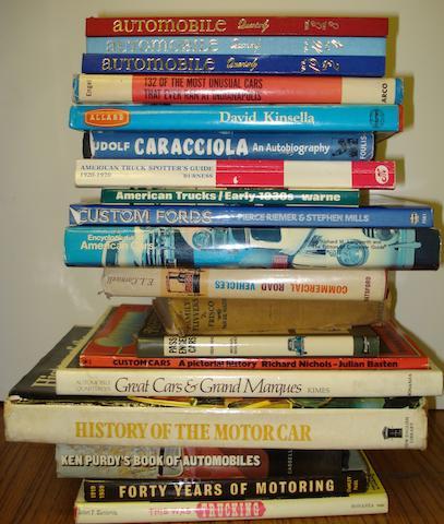 Sixteen motoring books,