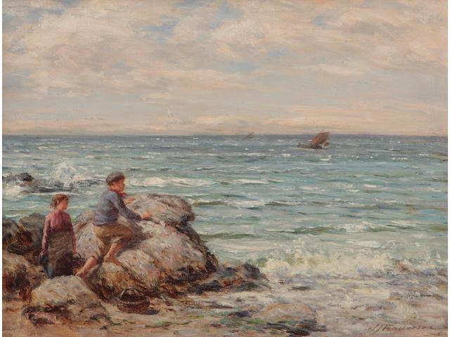 Joseph Henderson, RSW (British, 1832-1908) The boat in sight
