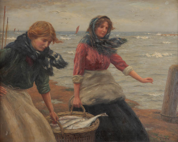 John McGhie (British, 1867-1952) Fisher girls, East Neuk