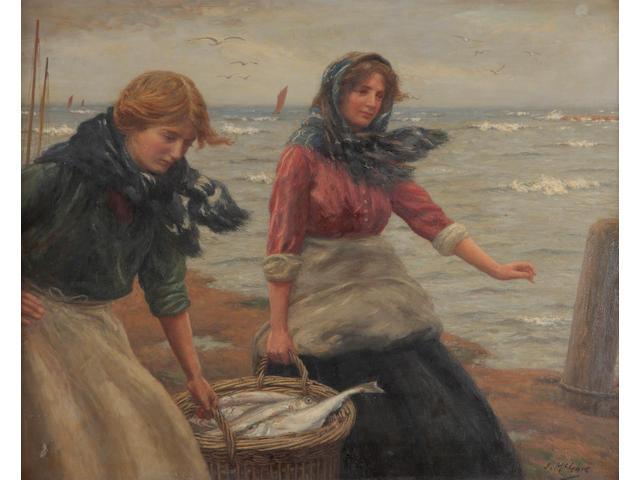 John McGhie (British, 1867-1952) Fisher girls, East Neuk