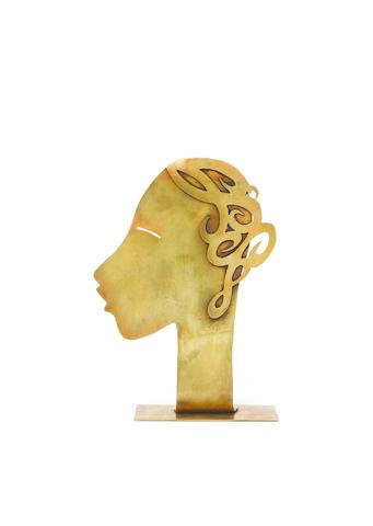 Franz Hagenauer 'Josephine Baker' a stylised bronze Bust, circa 1930