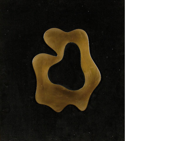 Jean Arp, a relief bronze, framed.