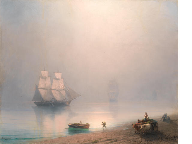 Ivan Konstantinovich Aivazovsky (Russian, 1817-1900), ON INSPECTION FOR RUSSIAN DEPT. * A tranquil sea scene