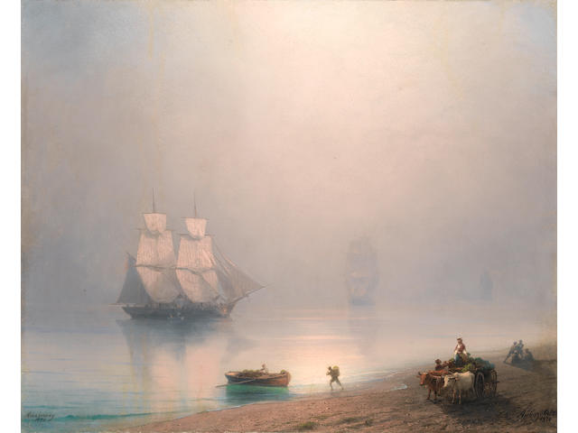 Ivan Konstantinovich Aivazovsky (Russian, 1817-1900) The morning catch