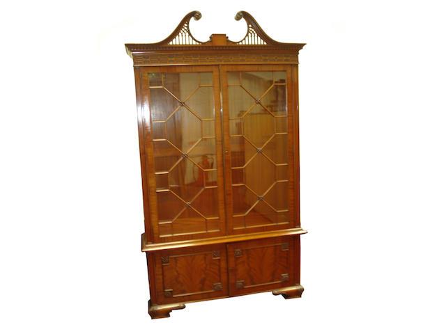 An 18th Century style mahogany bookcase,